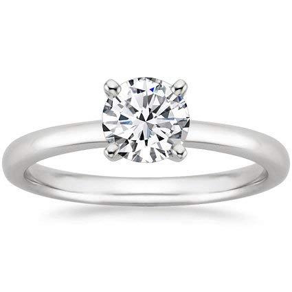 1/5 Carat Round Cut/Shape Diamond Solitaire Engagement Ring White Gold (J-K Color, I1-I2 Clarity center stones Center Stones)