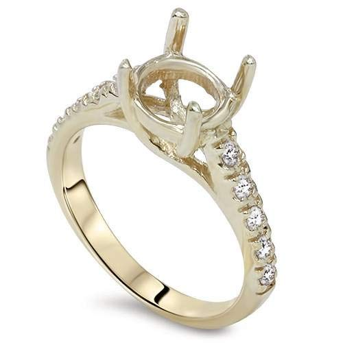 Diamond Semi Mount Engagement Setting Mounting 14K Ring
